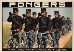 Vintage Dutch bicycle advertisment poster - Fongers